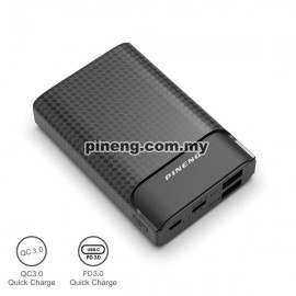 Carregador Portátil Power Bank Pineng 10000mAh Charge 3.0